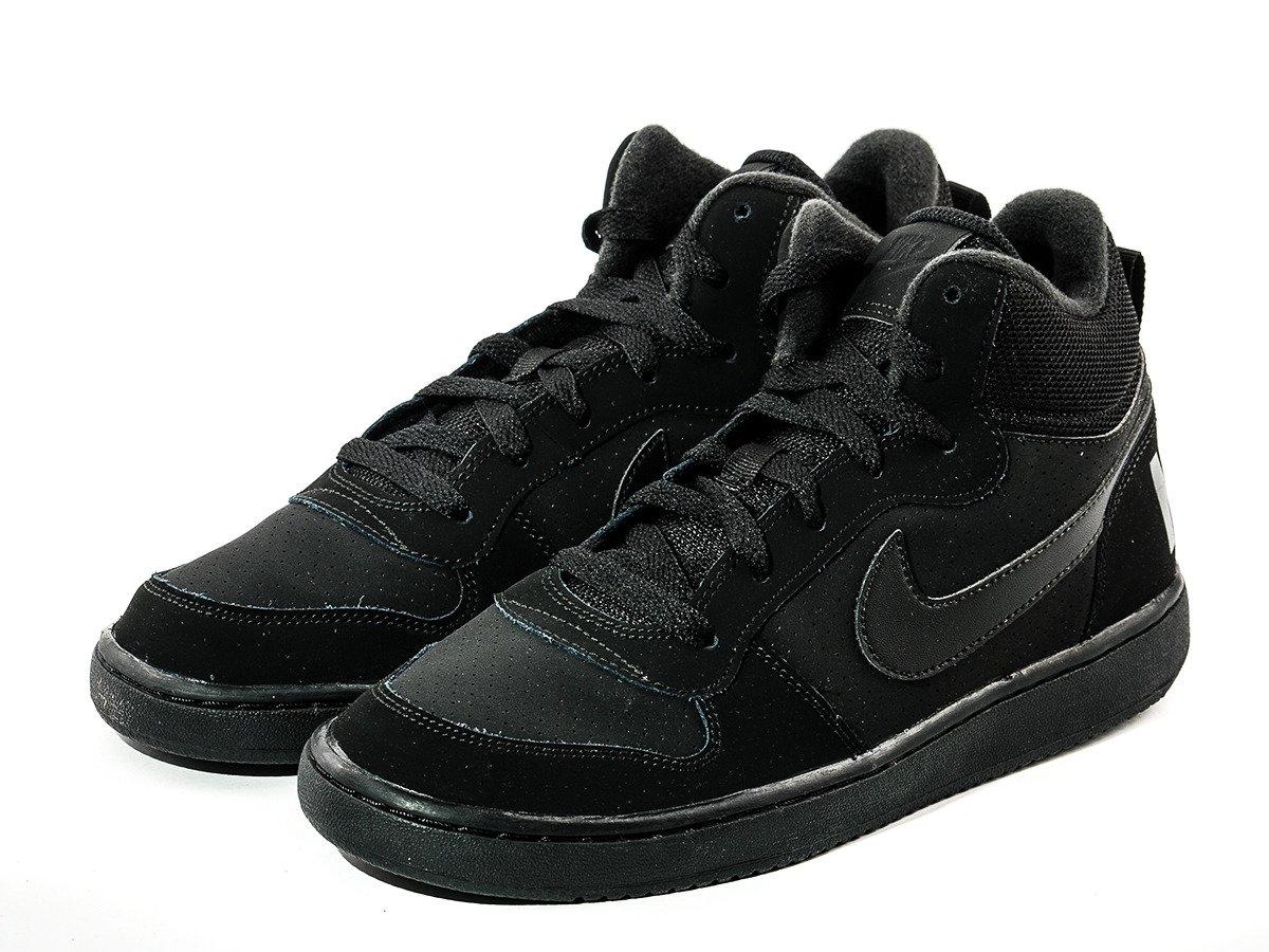 nike court borough mid gs shoes 839977 001 basketball. Black Bedroom Furniture Sets. Home Design Ideas