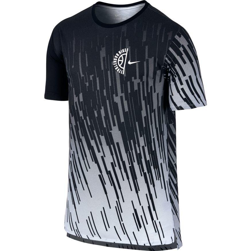 Nike dry tee printed t shirt 844506 100 white for Nike custom t shirts