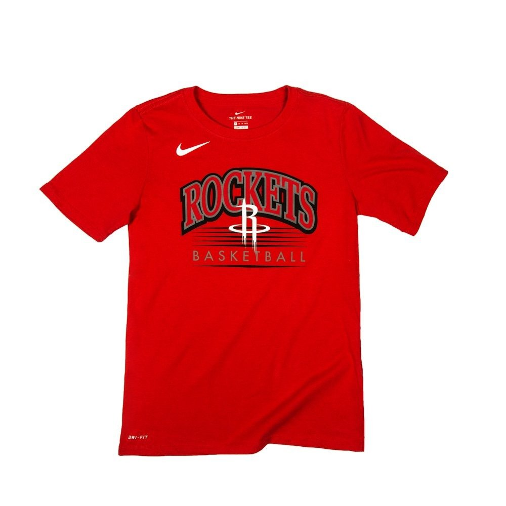 new concept a54f8 8fdcd Nike NBA Houston Rockets Crest Junior T-shirt - EZ2B7BAYX-RCK