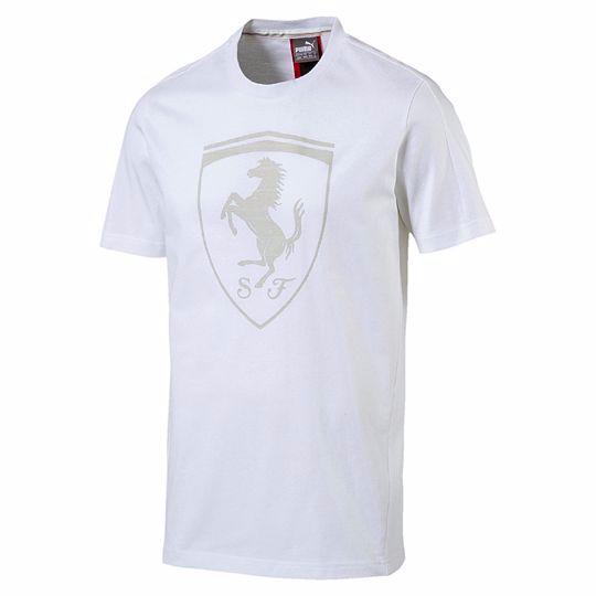 e95c5b89c Puma Ferrari Shield T-Shirt - 572805-04 White | Clothing \ Casual ...