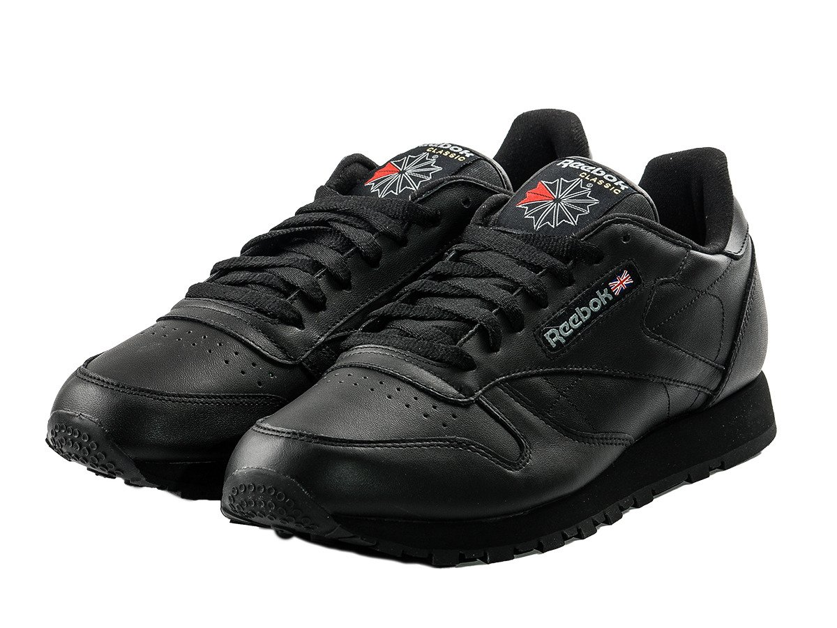 cheap reebok black leather shoes buy gt off69 discounted