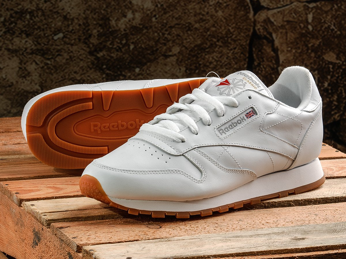 cc546f41c47 Reebok Classic Leather Shoes - 49803 Intense White Gum