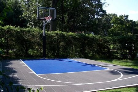 Sure shot versacourt sport surface household court for Residential basketball court cost