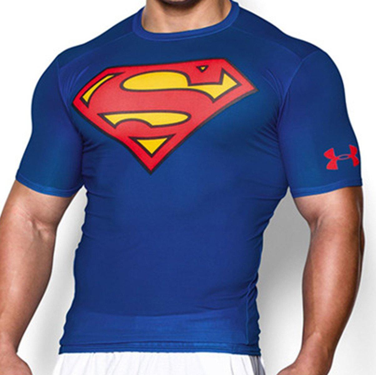 under armour alter ego superman compression t shirt 1244399 401 basketball clothing sklep. Black Bedroom Furniture Sets. Home Design Ideas