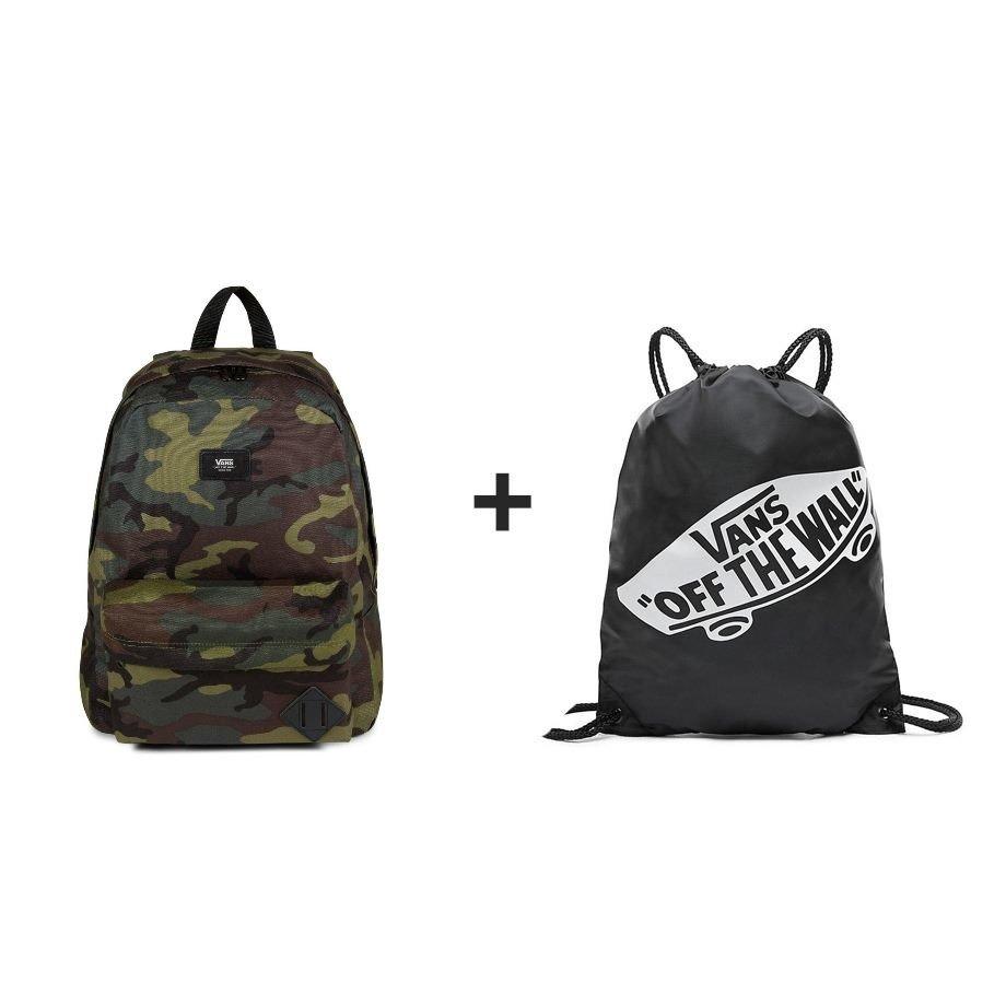 a39b31227b VANS Old Skool II Classic Camo Black Backpack - VN000ONIJ2R 810 + Sports Bag