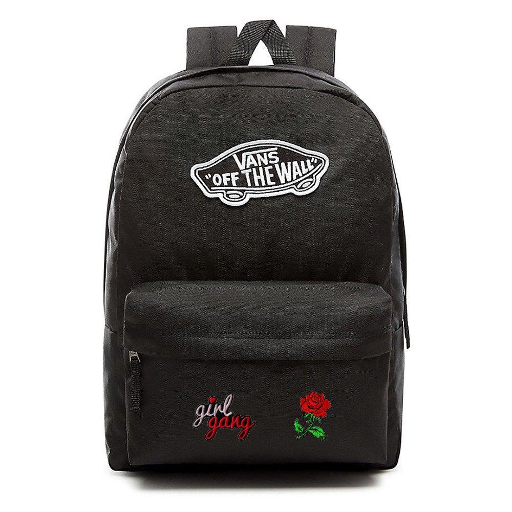 235ae995ff5df VANS Realm Backpack Custom Girl Gang Rose