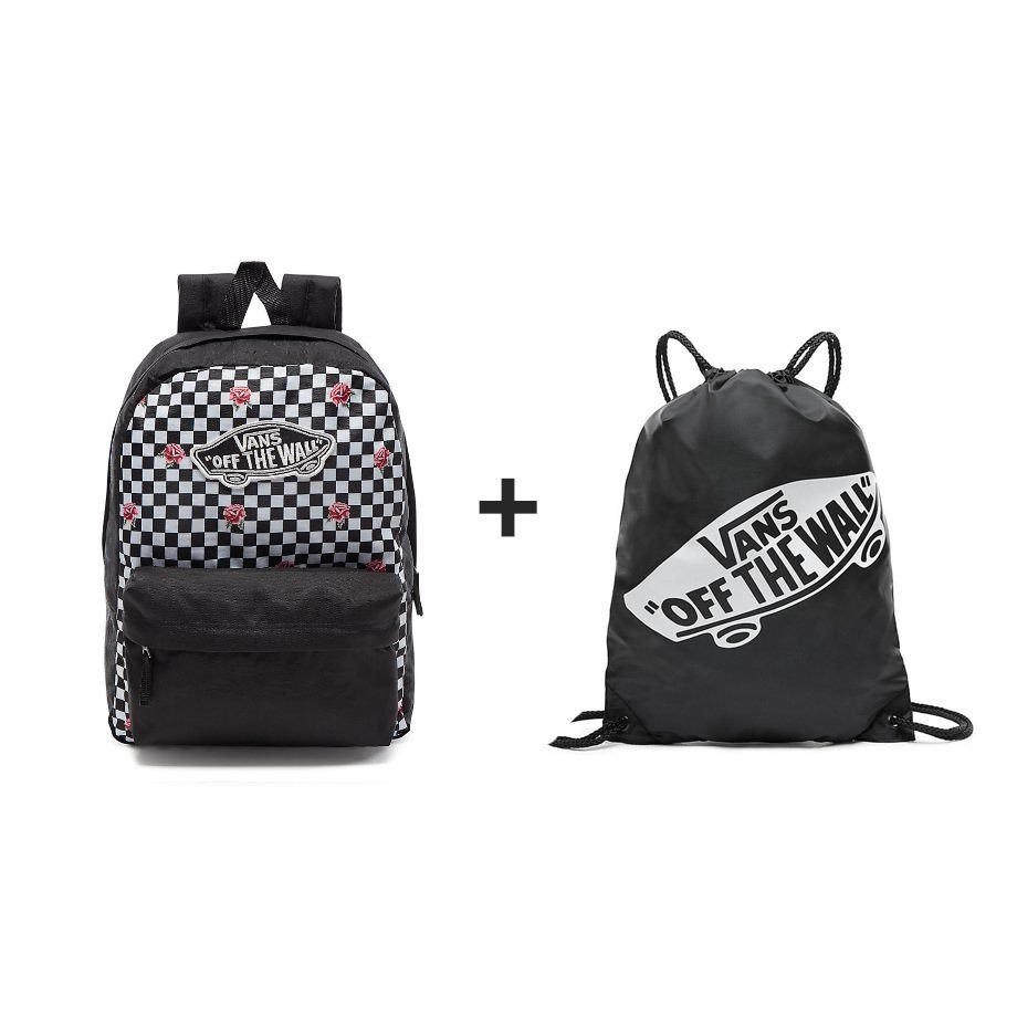4904f956ff3 VANS Realm Backpack Rose Checker - VN0A3UI6YFK 447 + Sports Bag 23699 |  Accessories | Sklep koszykarski Basketo.pl
