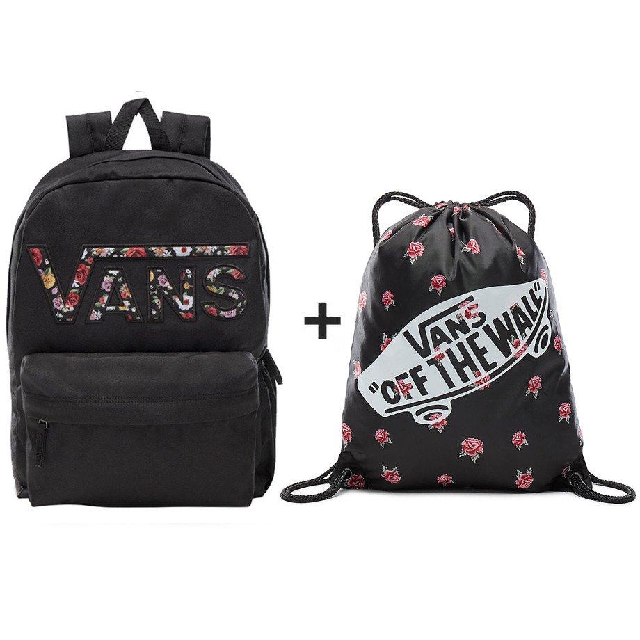 54f9d6cc8b ... VANS Realm Backpack - VN0A3UI8YGL 004 + VANS Benched Bag Black Rose -  VN000SUFRDU ...