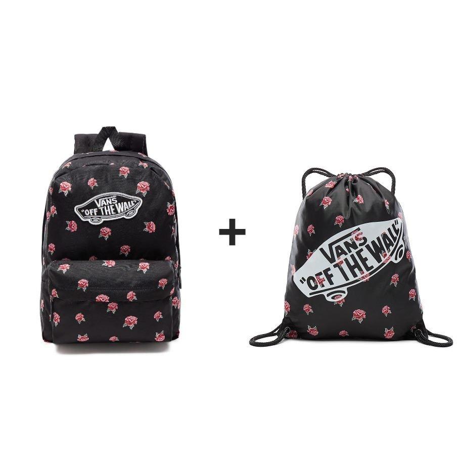adf8758b85 VANS Realm Black   Rose Backpack - BLACK VN0A3UI6RDU