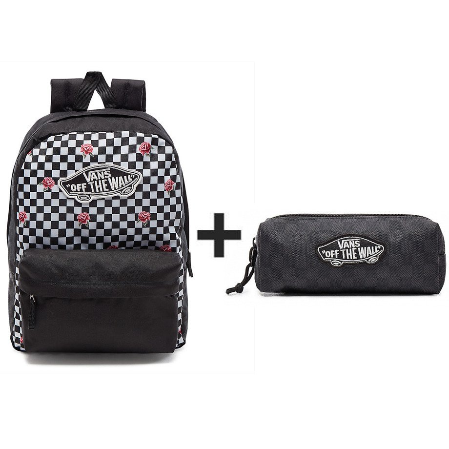 b5c585807484 VANS Realm Rose Checker Backpack - VN0A3UI6YFK 447