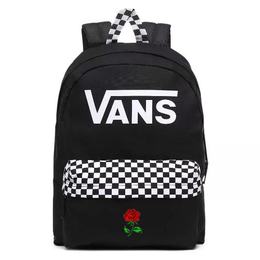 Vans Realm Black Checkerboard Backpack