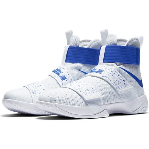 Nike LeBron Soldier X White Hyper Cobalt Shoes - 844374-164