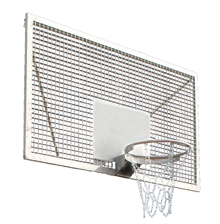 Steel basketball backboard 180 x 105 cm Interplastic